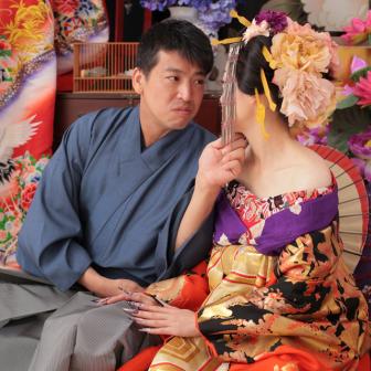 写真:古典花魁×袴男子でカップル花魁撮影♥︎