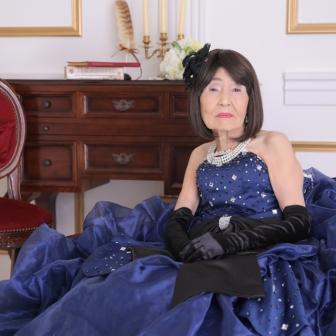 写真:おばあちゃんのドレス変身撮影☆