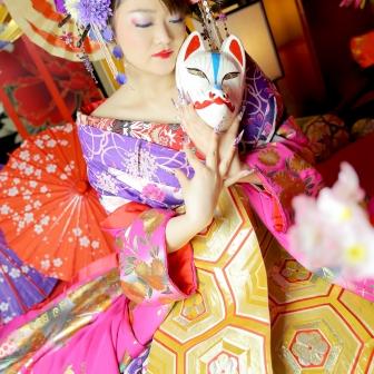 写真:【現代風花魁】紫とピンクでまとめて可愛らしく♡