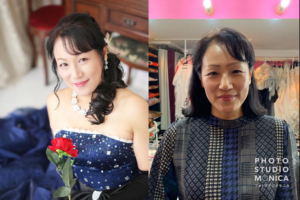 写真:カラードレスでのドレス全カットモニタープラン