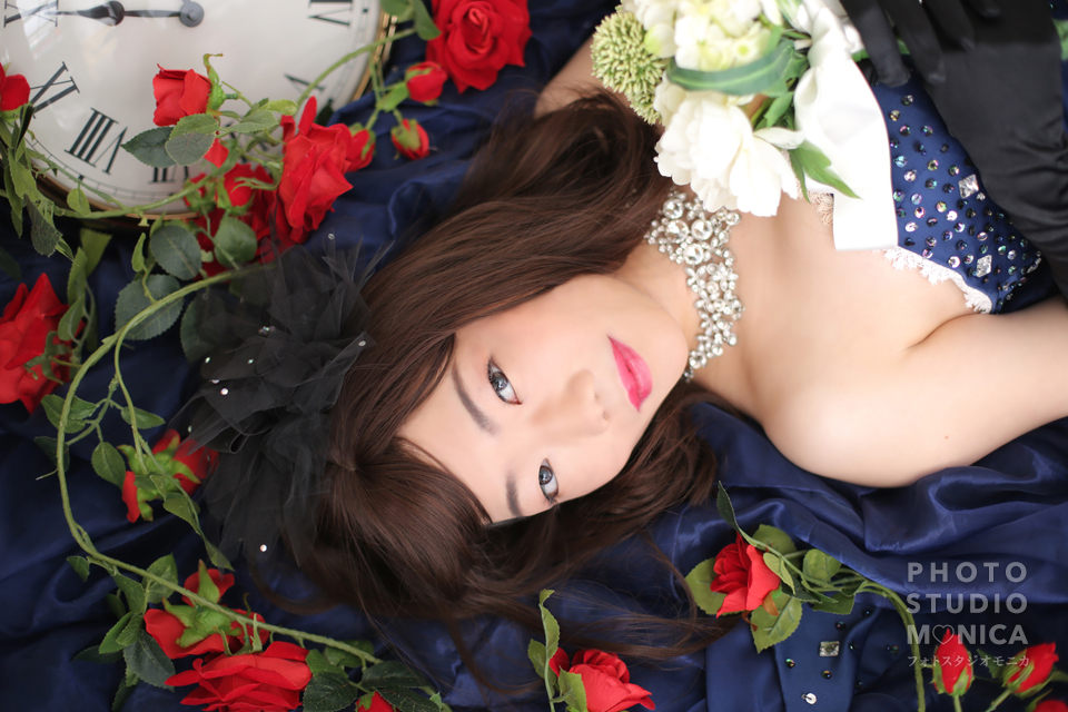 写真:カラードレスでシックに&現代風花魁で華やかにスタジオ撮影☆
