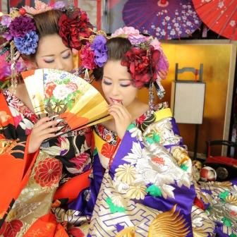 写真:美人姉妹で現代風花魁体験!単体&グループ撮影
