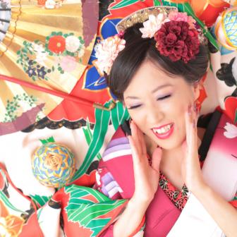 写真:カラフルで華やか☆現代風花魁!