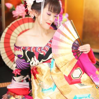 写真:艶っぽい美しさ!現代風花魁スタジオ撮影☆