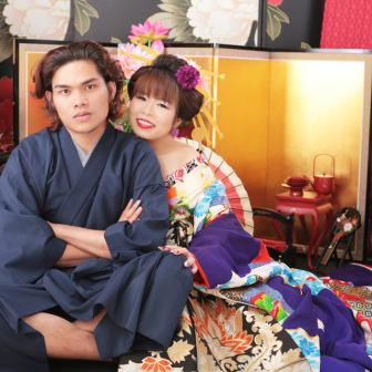 写真:男前な彼氏と美人古典花魁撮影☆