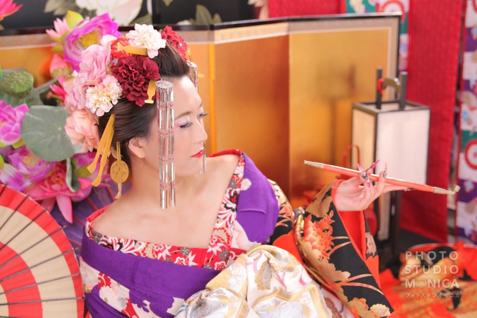 写真:艶のある古典花魁スタイルでスタジオ撮影体験☆