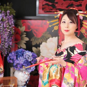 写真:古典スタイルで可愛く色っぽい花魁体験♥︎
