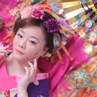 写真:古典風花魁体験とローズピンク×金の打掛けで可愛いお姫様変身撮影♡