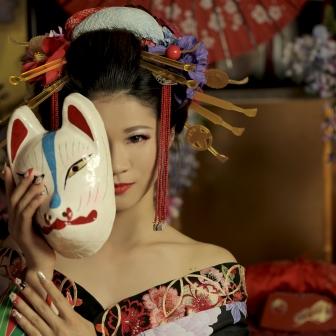 写真:【古典風花魁】古典風の打掛の花魁