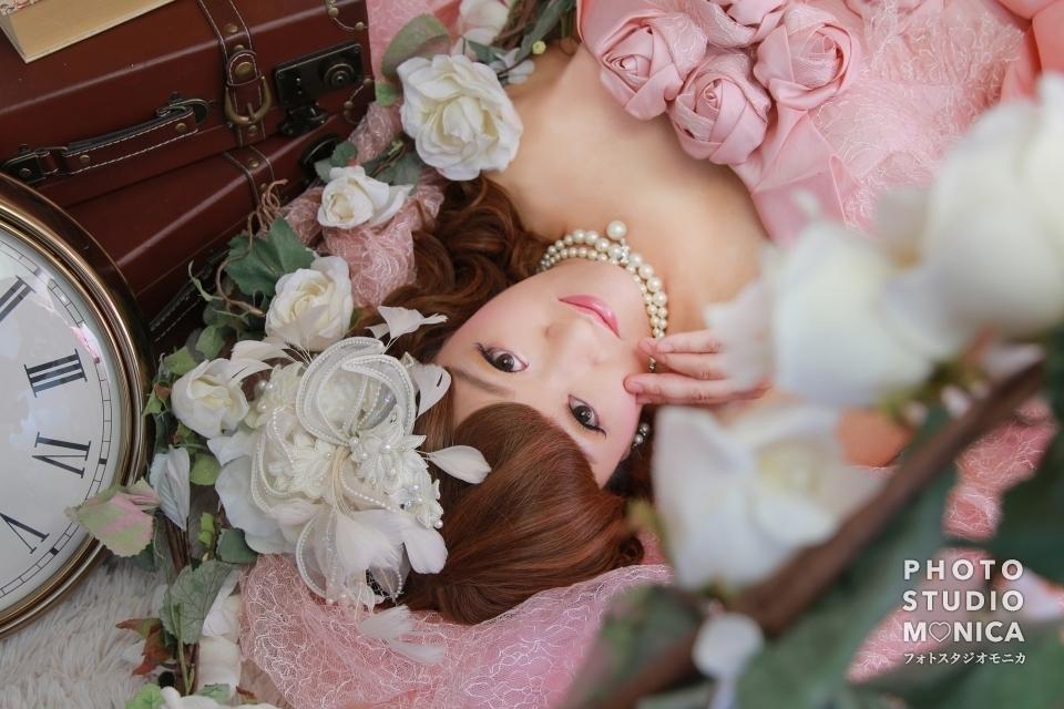 写真:クラシカルでエレガントなドレス変身写真