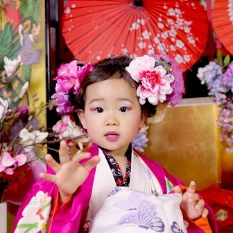 写真:母娘花魁体験!仲良し親子はピンクと紫で素敵コーデ