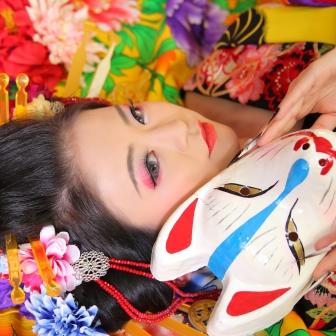 写真:古典スタイルで可愛いお姫様風花魁体験