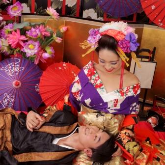 写真:艶やかな花魁姿で彼氏さんを魅了!カップル花魁体験