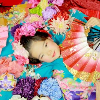 写真:母娘花魁体験!お嬢様セレクトの着物でちび花魁撮影