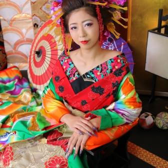 写真:嬉しいリピーター様!前髪を結い上げ姫風の古典風花魁
