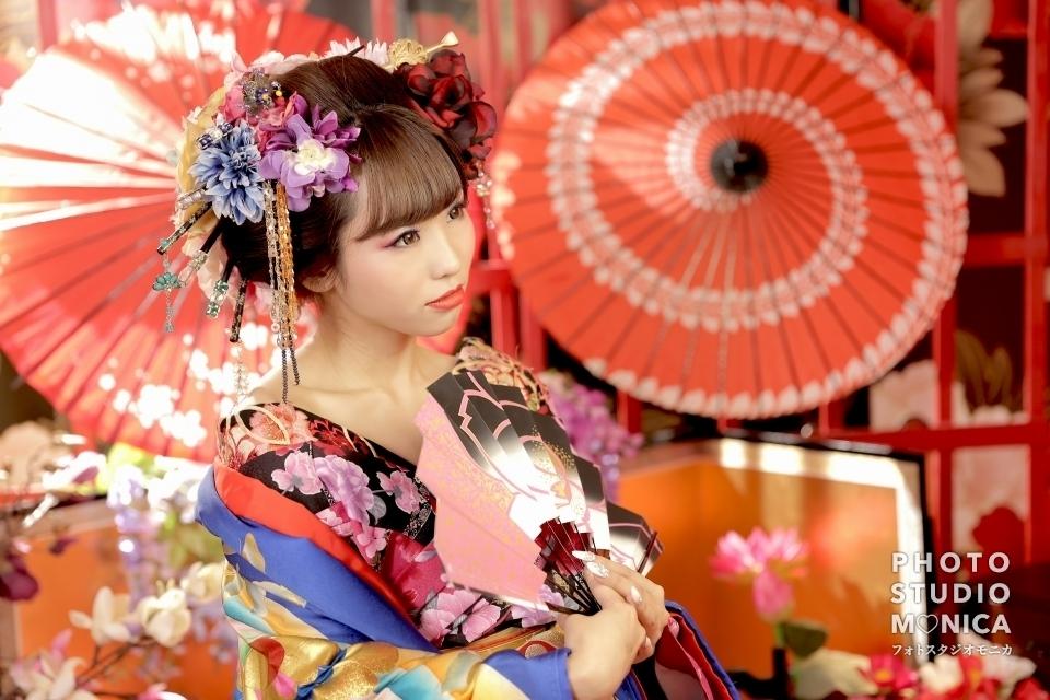 写真:【現代風花魁】前髪を上げずに仕上げる可愛らしい花魁