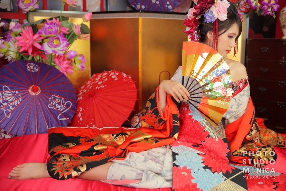 写真:ボイメン小林豊さんと同じ衣装で現代風花魁
