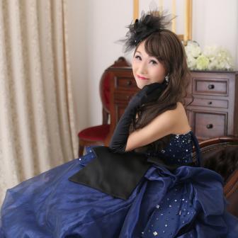 写真:青のカラードレス×スタジオドレス変身撮影☆