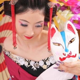 写真:凛とした美しさ★格調高い古典風花魁体験