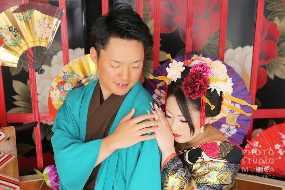 写真:花魁姿で彼氏さんを魅了♥︎カップル花魁体験