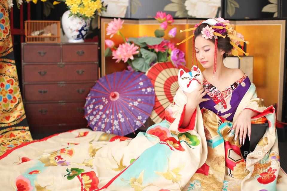 写真:海外からのお客様×花魁撮影♡